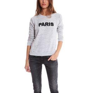 Monrow PARIS Sweatshirt in Heather Grey